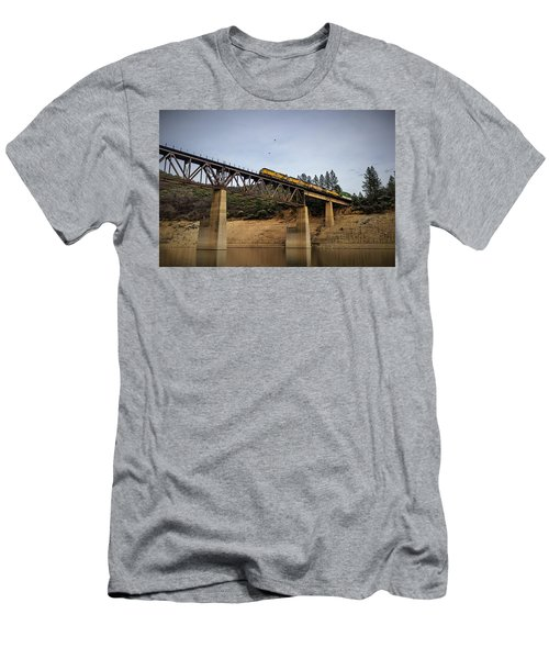 Bird Vs Train Men's T-Shirt (Athletic Fit)