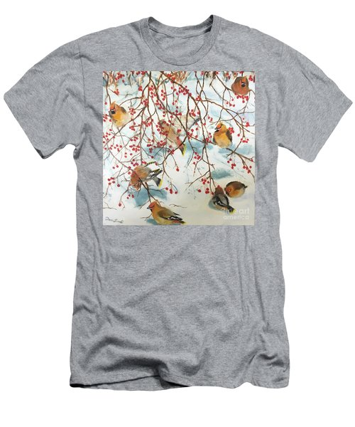 Birds And Berries Men's T-Shirt (Athletic Fit)