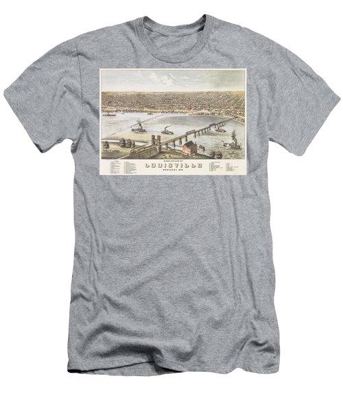 Bird's Eye View Of Louisville, Kentucky, 1876 Men's T-Shirt (Athletic Fit)
