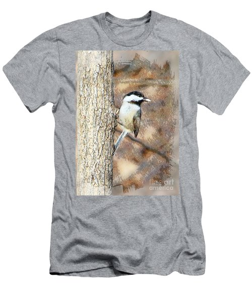 Men's T-Shirt (Slim Fit) featuring the photograph Bird@seed by Robert Pearson