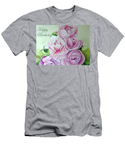 Birthday Peonies Men's T-Shirt (Athletic Fit)