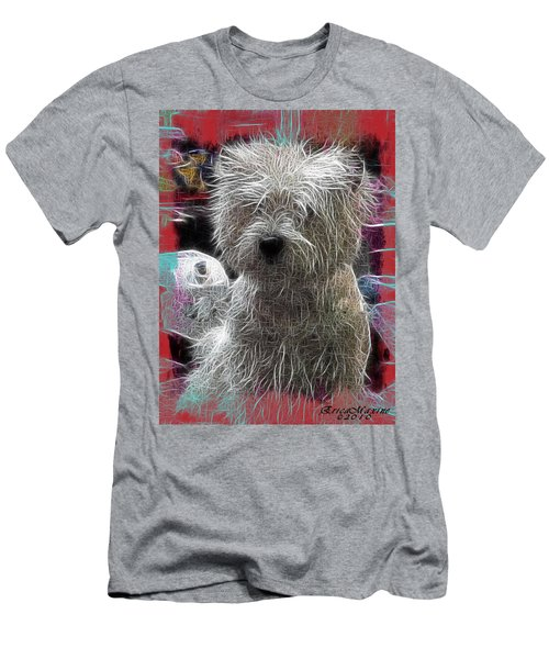 Men's T-Shirt (Slim Fit) featuring the photograph Bishon Frise by EricaMaxine  Price