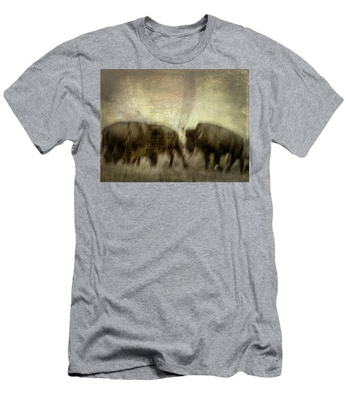 Men's T-Shirt (Athletic Fit) featuring the photograph Bison 3 by Joye Ardyn Durham