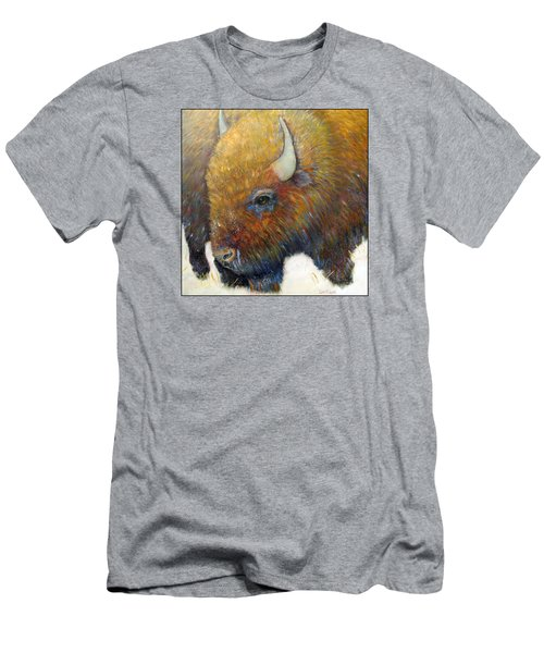 Bison For T-shirts And Accessories Men's T-Shirt (Slim Fit) by Loretta Luglio