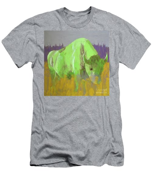 Bison On The American Plains Men's T-Shirt (Slim Fit) by Donald J Ryker III