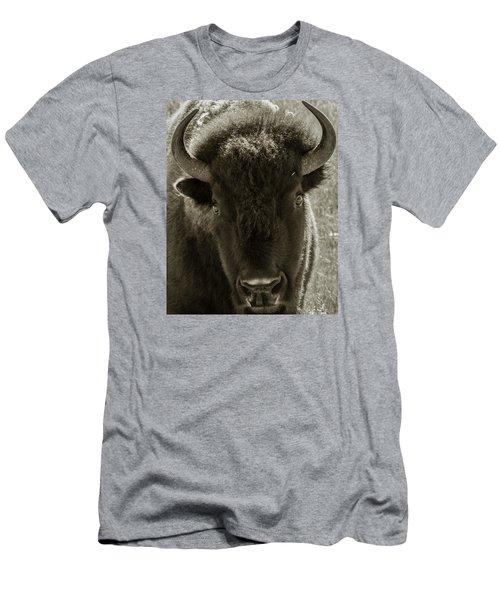 Bison Surprise Men's T-Shirt (Slim Fit) by Elizabeth Eldridge