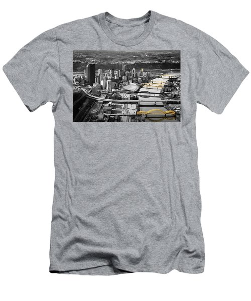 Black And Gold Pittsburgh  Men's T-Shirt (Athletic Fit)