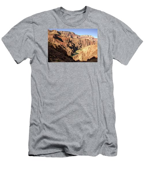 Black And Silver Bridges Spanning The Colorado River  Grand Canyon National Park Men's T-Shirt (Athletic Fit)