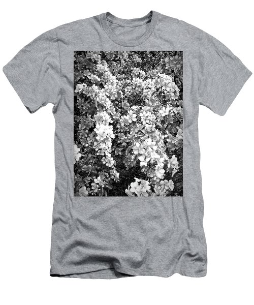 Men's T-Shirt (Athletic Fit) featuring the photograph Black And White Beautiful Blossoms by Aimee L Maher Photography and Art Visit ALMGallerydotcom