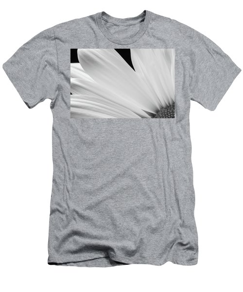 Black And White Daisy Flower Peeking Men's T-Shirt (Athletic Fit)