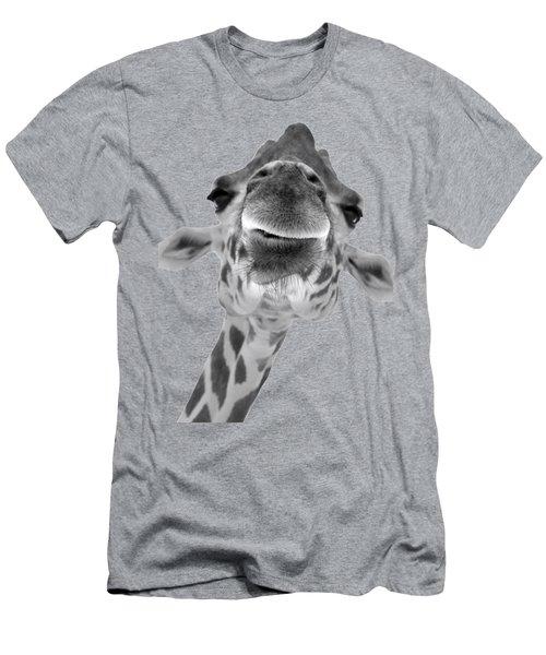 Black And White Giraffe Face Men's T-Shirt (Athletic Fit)
