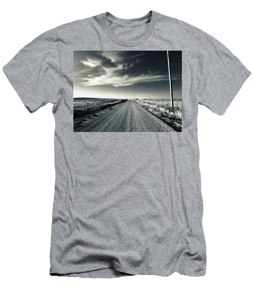 Black And White Gravel Men's T-Shirt (Athletic Fit)