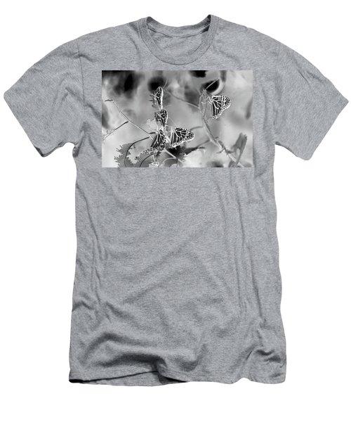 Black And White Monarchs Men's T-Shirt (Slim Fit) by Deprise Brescia
