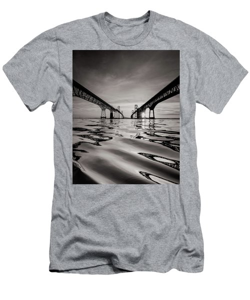 Black And White Reflections Men's T-Shirt (Slim Fit) by Jennifer Casey