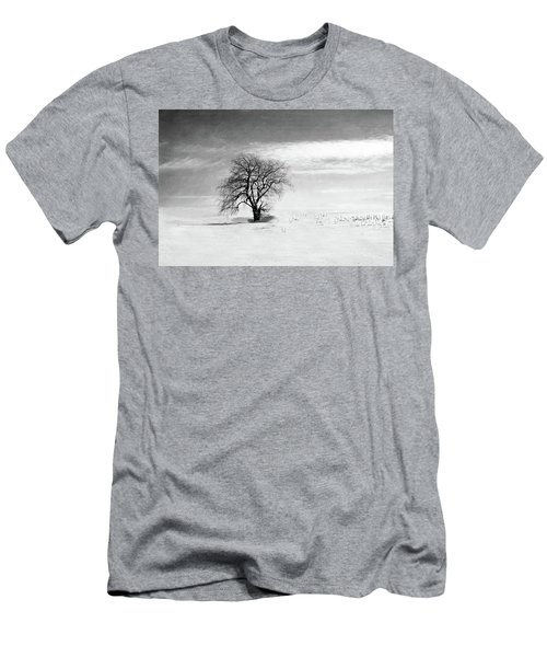 Black And White Tree In Winter Men's T-Shirt (Athletic Fit)