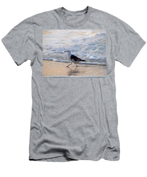 Men's T-Shirt (Slim Fit) featuring the photograph Black-backed Gull by  Newwwman