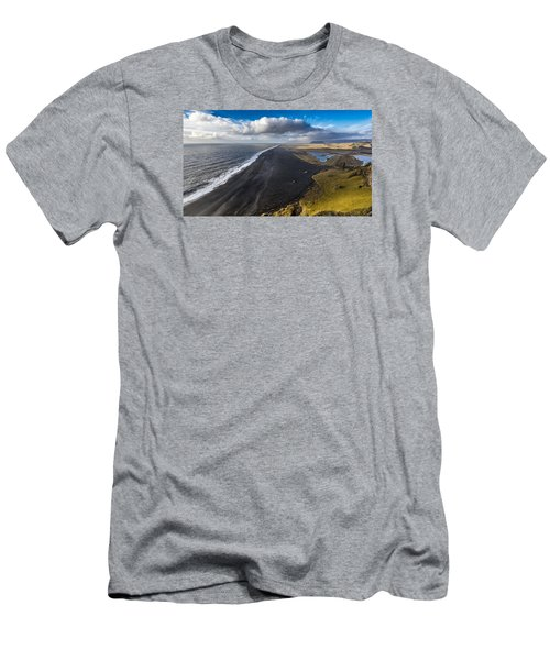 Men's T-Shirt (Athletic Fit) featuring the photograph Black Beach by James Billings