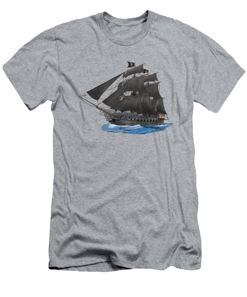 Black Beard's Pirate Ship Men's T-Shirt (Athletic Fit)