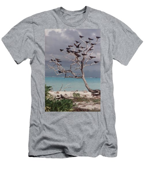 Men's T-Shirt (Slim Fit) featuring the photograph Black Birds by Mary-Lee Sanders
