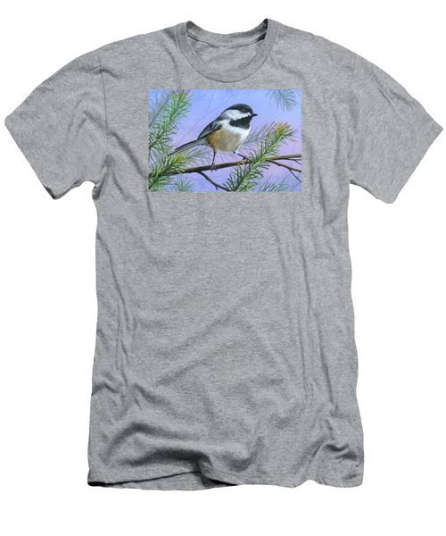 Black Cap Chickadee Men's T-Shirt (Athletic Fit)