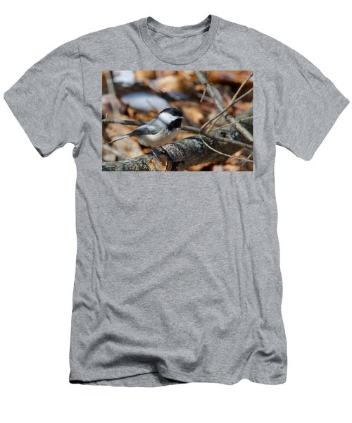 Black-capped Chickadee 0571 Men's T-Shirt (Slim Fit) by Michael Peychich