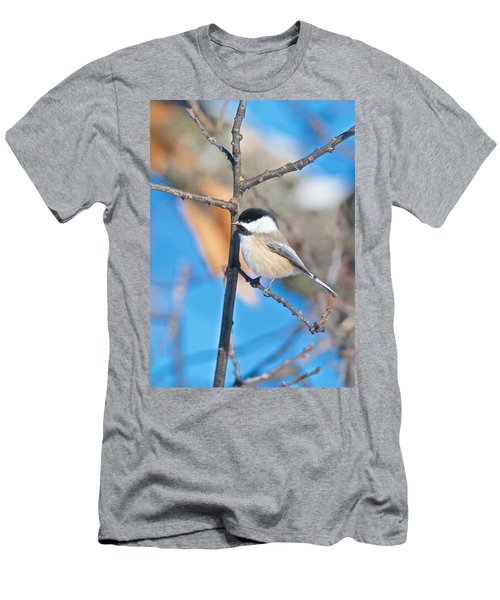 Black Capped Chickadee 1140 Men's T-Shirt (Slim Fit) by Michael Peychich