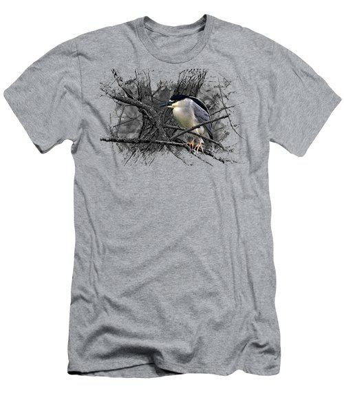 Black Crowned Night Heron 001 Men's T-Shirt (Athletic Fit)