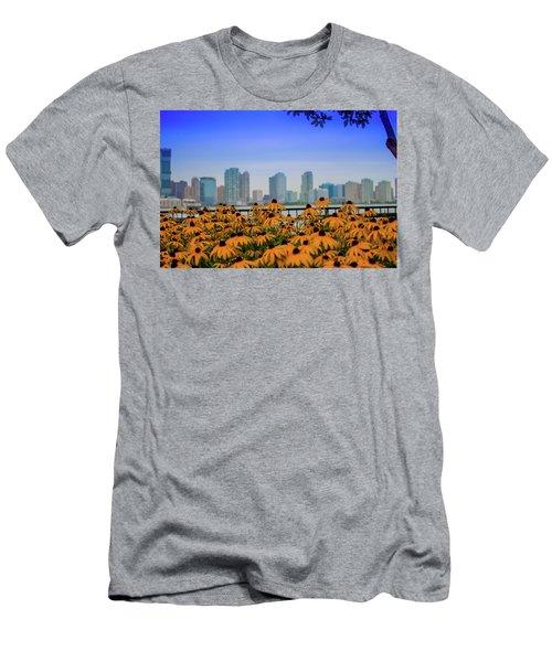 Black Eyed Susans In Battery Park Men's T-Shirt (Athletic Fit)