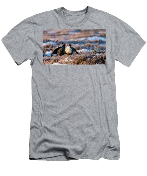 Men's T-Shirt (Slim Fit) featuring the photograph Black Grouses by Torbjorn Swenelius