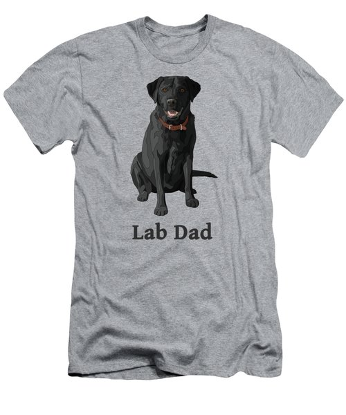 Black Labrador Retriever Lab Dad Men's T-Shirt (Athletic Fit)