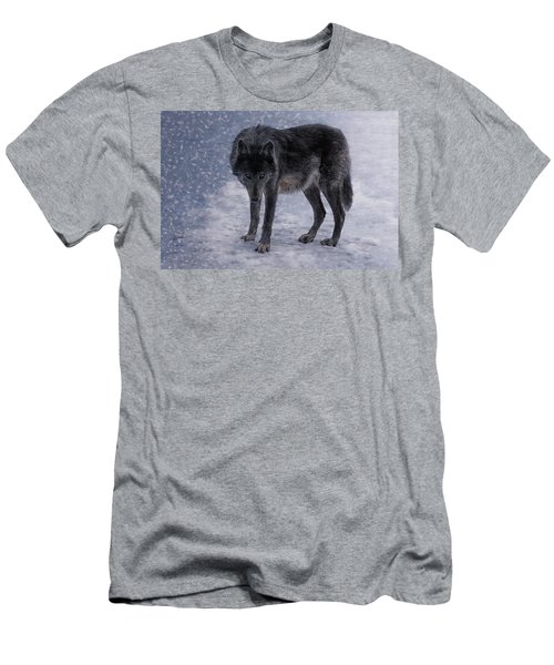 Black She-wolf Men's T-Shirt (Athletic Fit)