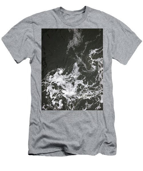 Black Water Marble  Men's T-Shirt (Athletic Fit)