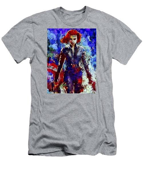 Black Widow Men's T-Shirt (Athletic Fit)