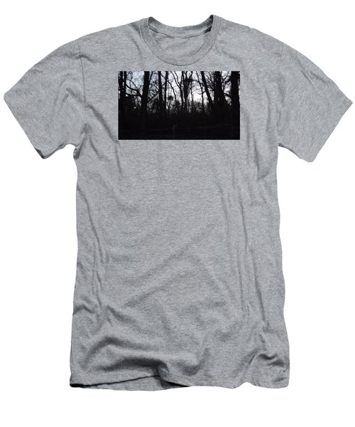 Men's T-Shirt (Slim Fit) featuring the photograph Black Woods by Don Koester