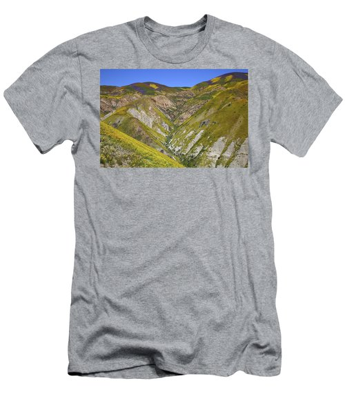 Blanket Of Wildflowers Cover The Temblor Range At Carrizo Plain National Monument Men's T-Shirt (Athletic Fit)