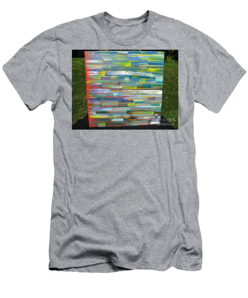 Men's T-Shirt (Slim Fit) featuring the painting Blindsided by Jacqueline Athmann