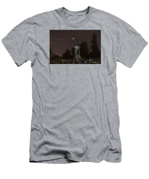 Blood Moon At The Colorado Volunteers Memorial Men's T-Shirt (Slim Fit) by Stephen  Johnson
