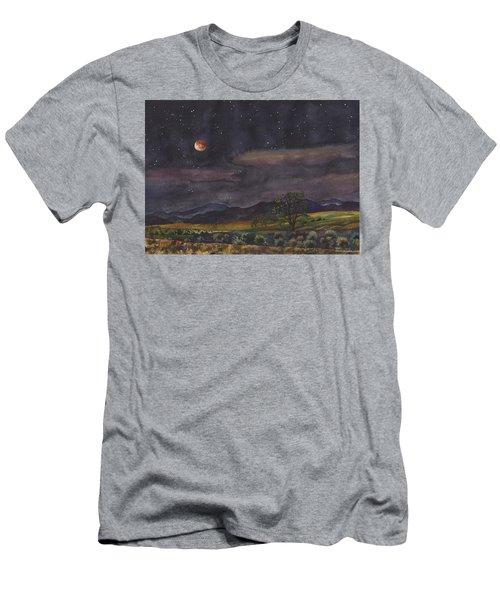 Blood Moon Over Boulder Men's T-Shirt (Athletic Fit)
