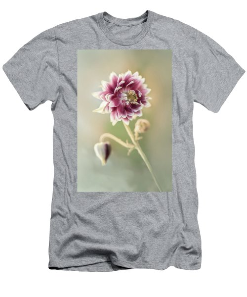 Men's T-Shirt (Athletic Fit) featuring the photograph Blooming Columbine Flower by Jaroslaw Blaminsky