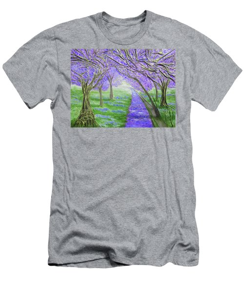 Men's T-Shirt (Slim Fit) featuring the mixed media Blossoms by Angela Stout