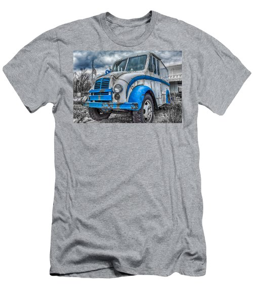 Blue And White Divco Men's T-Shirt (Athletic Fit)