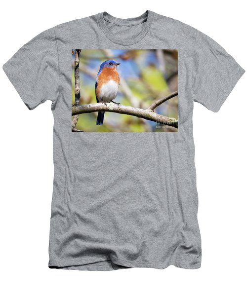 Men's T-Shirt (Athletic Fit) featuring the photograph Blue Bird by Ricky L Jones