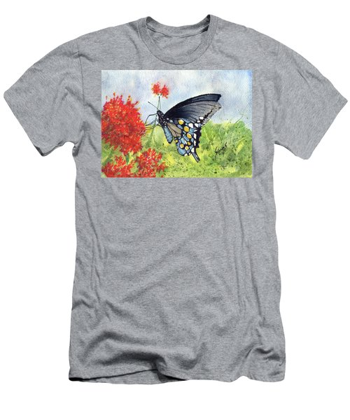 Men's T-Shirt (Athletic Fit) featuring the painting Blue Boy by Sam Sidders