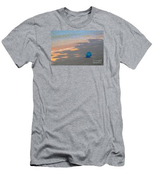 Men's T-Shirt (Slim Fit) featuring the photograph Blue Bucket by Jeanette French