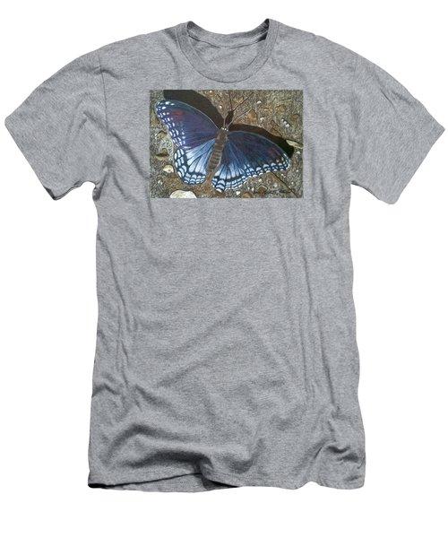 Blue Butterfly - Savannah Charaxes Men's T-Shirt (Slim Fit) by Anita Putman