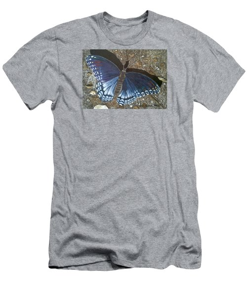 Blue Butterfly - Savannah Charaxes Men's T-Shirt (Athletic Fit)