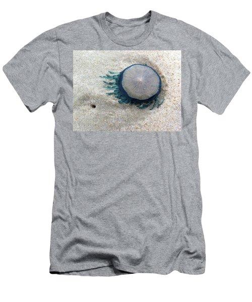 Blue Button #2 Men's T-Shirt (Athletic Fit)