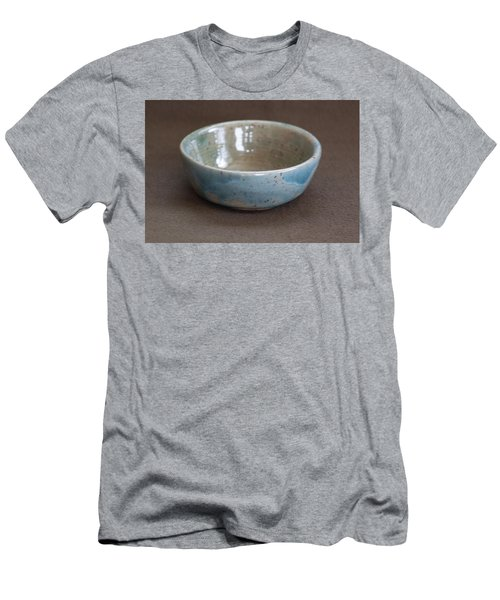 Blue Ceramic Drippy Bowl Men's T-Shirt (Slim Fit) by Suzanne Gaff