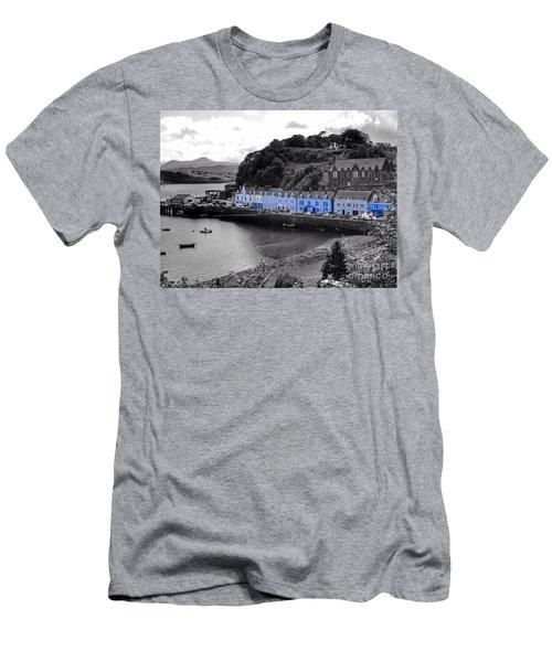 Blue Cottages At Portree Harbour 5 Men's T-Shirt (Athletic Fit)