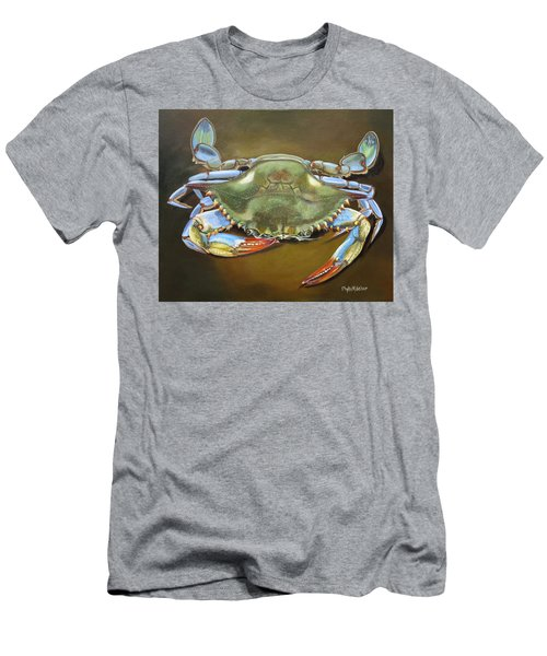 Blue Crab Men's T-Shirt (Slim Fit) by Phyllis Beiser